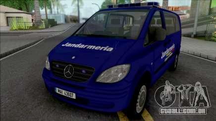 Mercedes-Benz Vito Jandarmeria Romana para GTA San Andreas
