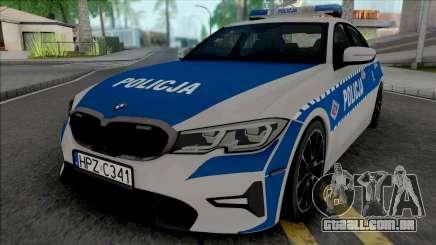 BMW 3-er G20 Policja para GTA San Andreas